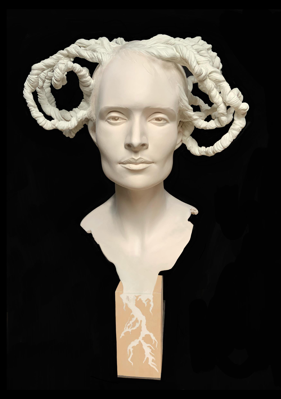 Double Racine Sculpture Résine Carole Schoeni