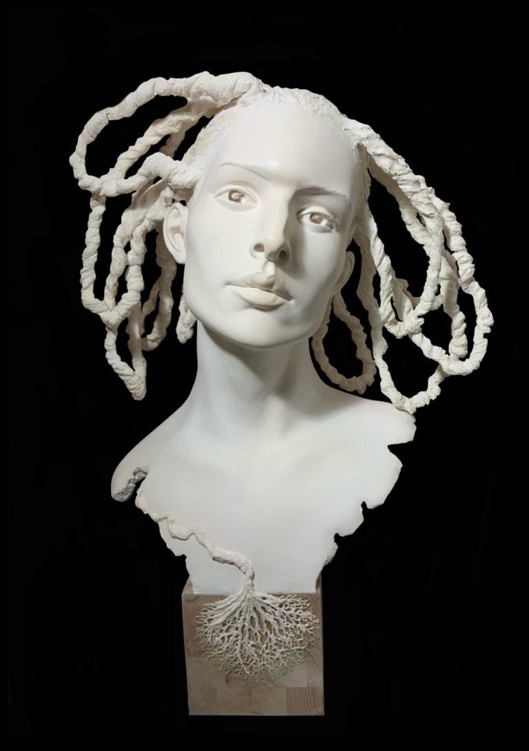 Fleur d'Arborescence Sculpture Résine Schoeni Carole
