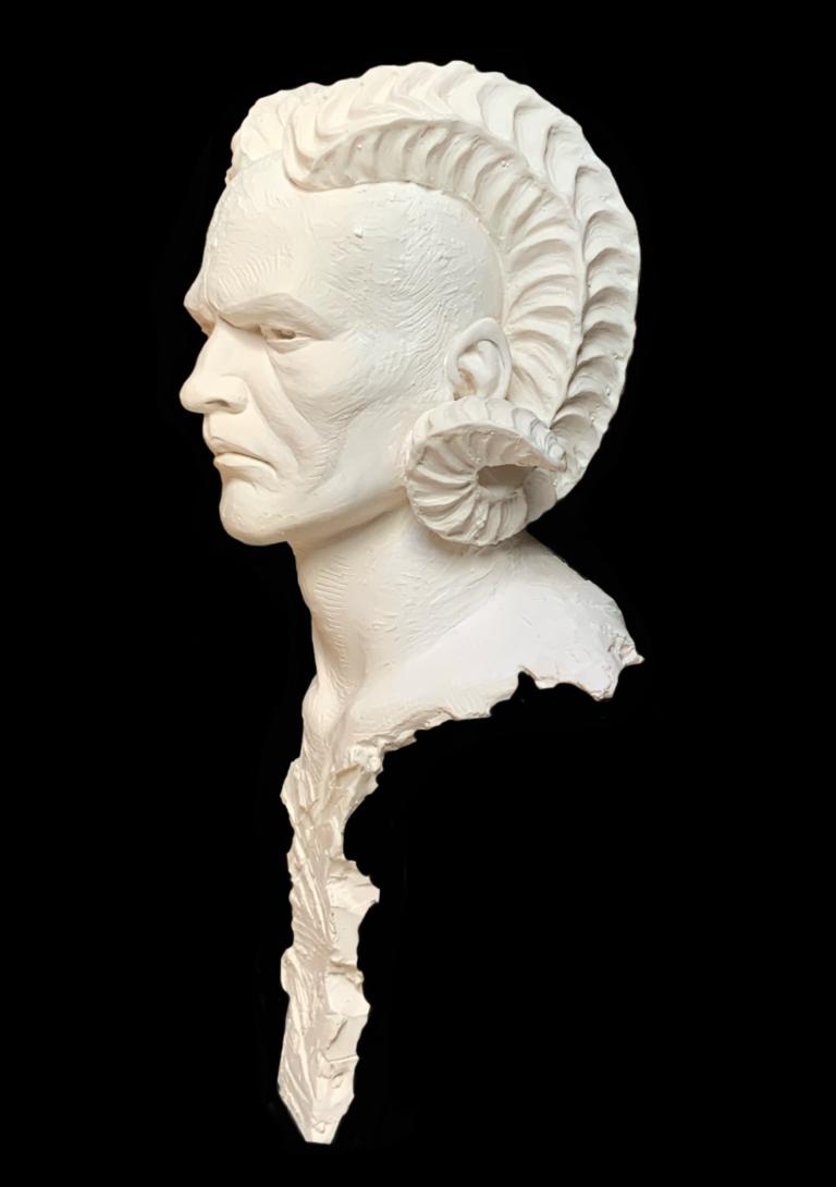 L'Adversaire Sculpture Résine Carole Schoeni