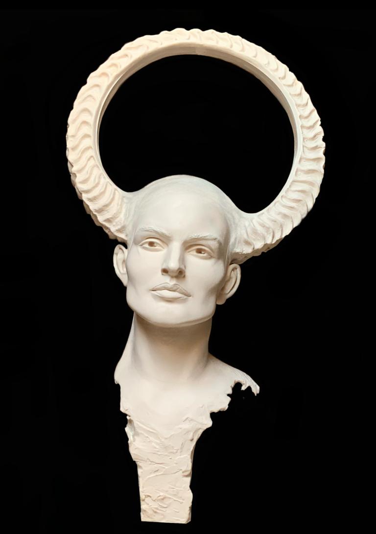 """""""L'Information de Notre Devenir"""" Sculpture Résine Carole Schoeni"""