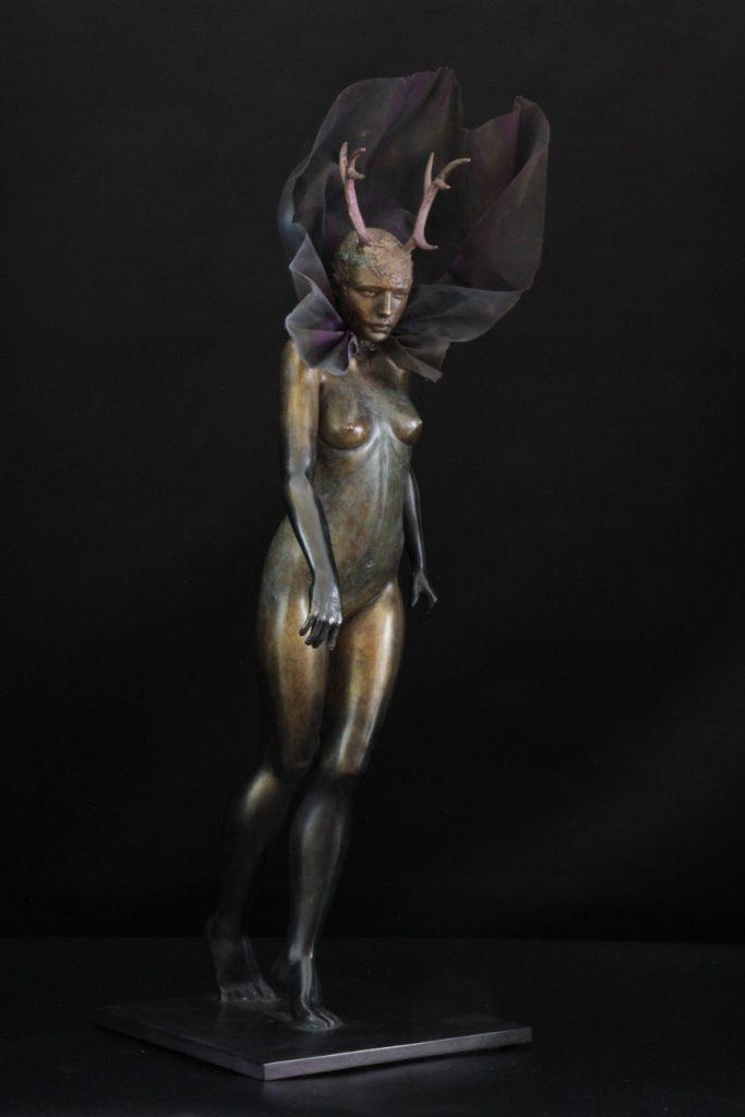 Cerfine Sculpture Bronze Carole Schoeni