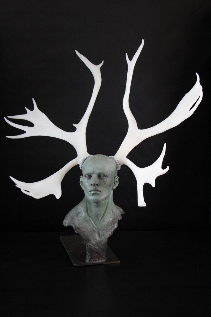 Cervus Dama Sculpture Bronze Carole Schoeni