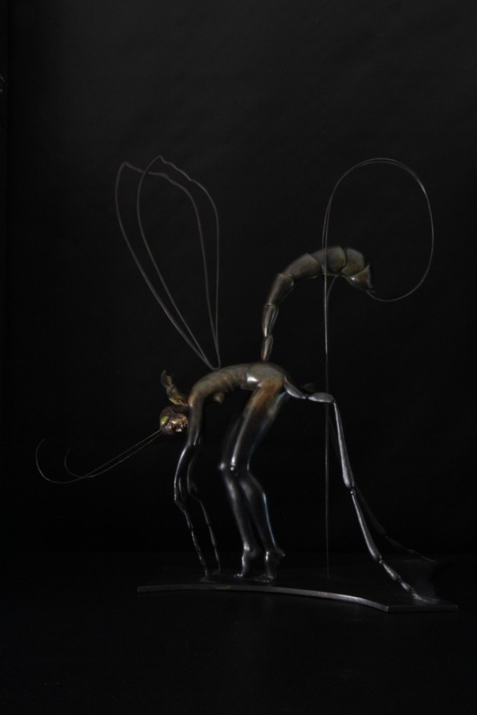 Demoiselle Pic Sculpture Bronze Carole Schoeni