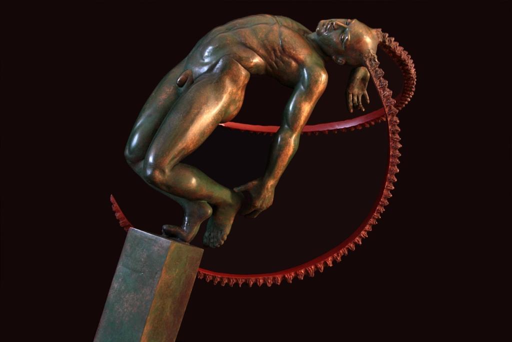 Esprit des Lois Sculpture Bronze Carole Schoeni