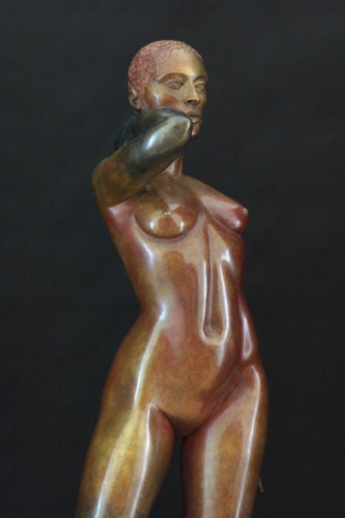 Et Dieu Créa la Femme Sculpture Bronze Carole Schoeni