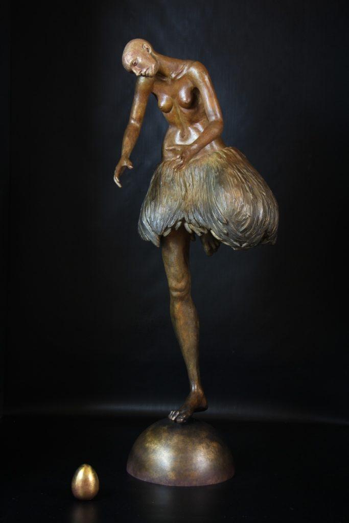 Gardienne du Temple Sculpture Bronze Carole Schoeni