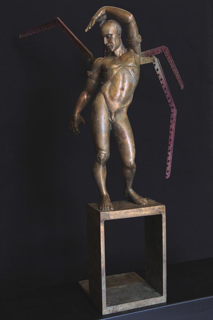 Hybris Sculpture Bronze Carole Schoeni
