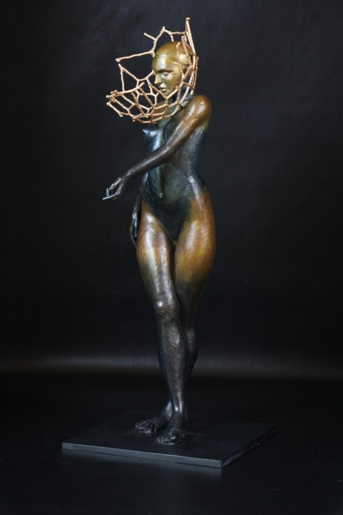 Le Temple Sculpture Bronze Carole Schoeni