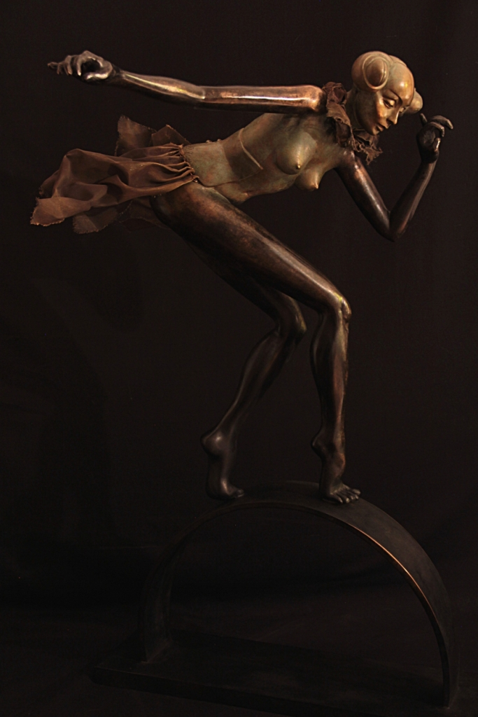 Mantis Sculpture Bronze Carole Schoeni