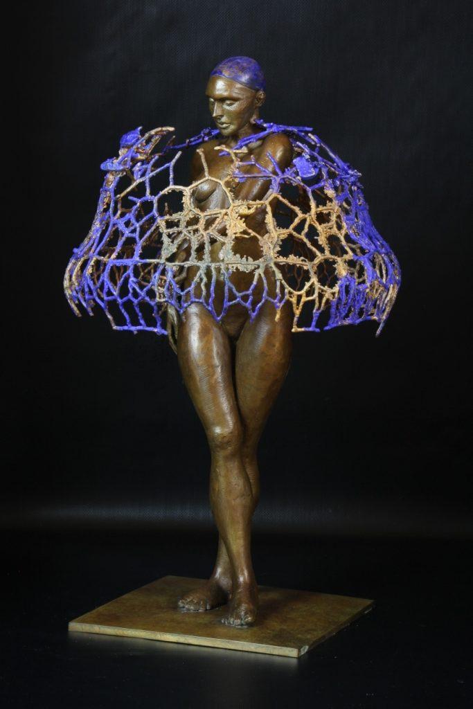 Medusine Sculpture Bronze Carole Schoeni
