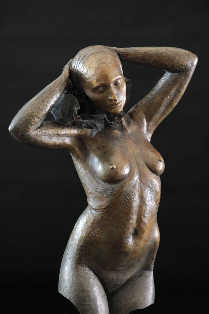 Mina Sculpture Bronze Carole Schoeni